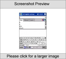 LingvoSoft Talking Dictionary English <-> Latvian for Pocket PC Screenshot
